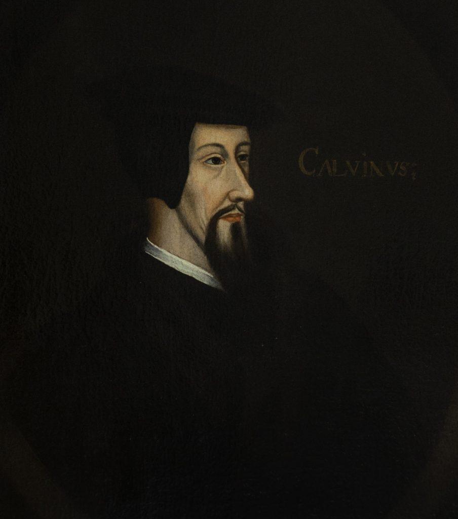 Photo of John Calvin's painting in Tolle Lege Institute